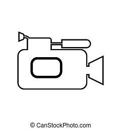 Videocamera black color icon . - Videocamera it is black...
