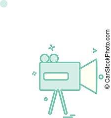 videocamera icon vector design - video camera icon vector...
