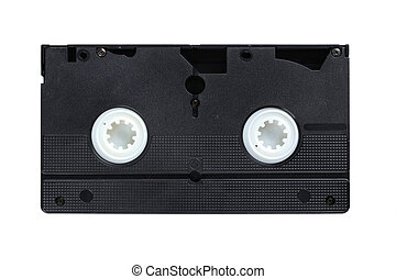 Videocassette isolated on a white