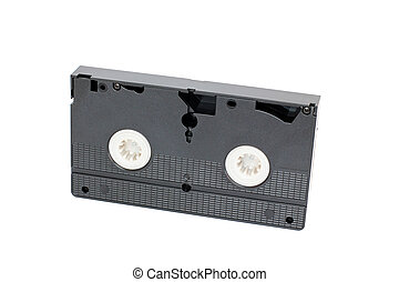Videocassette on a white background
