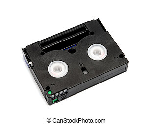 Videocassette standard mini DV isolated on a white background
