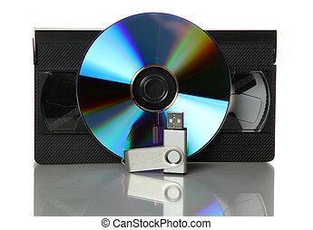 videocinta, dvd, usb, palo