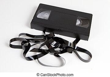 videoen tejpar, föråldrad, kassett