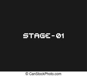 videogame, étape, message, retro