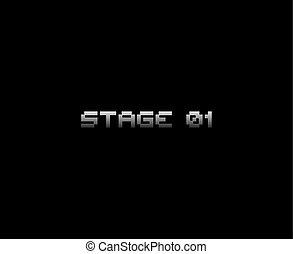 videogame, 01, message, étape, retro