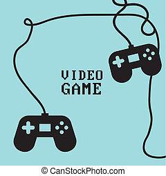 Videogame design over background, vector illustration