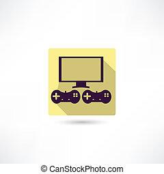 videogame, icono
