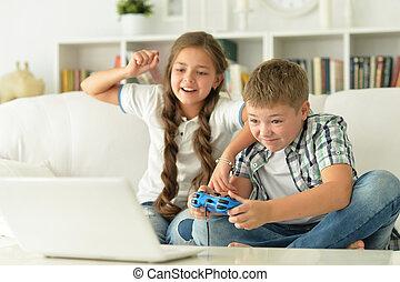 videogames, 姉妹, 兄弟, プレーしなさい