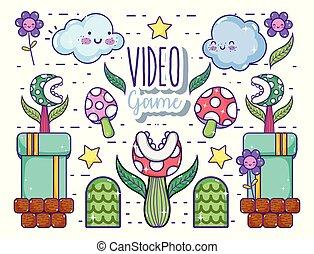 videogames, retro, dessins animés