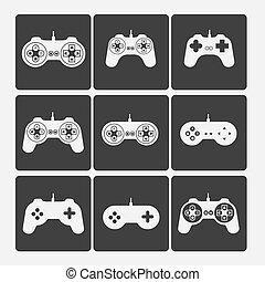 videogames, silhuetas