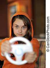 Videogames - Teenager crazy about videogames