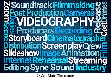 videography, szó, felhő