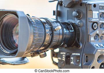 videokamera, kamera, video, čočka