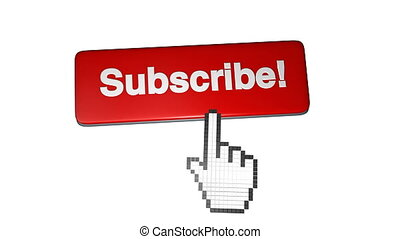 videos., media's, youtube, aimer, subscriber., subscribe., nombre, account., screen., notifications, vert, social, augmenter, bouton, icône