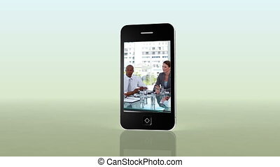Videos of business on a smartphone