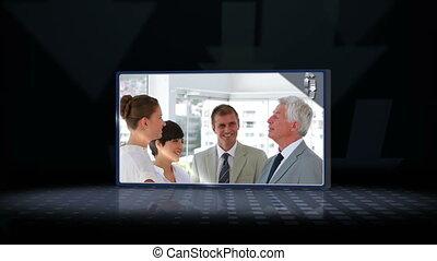 Videos of business team speaking