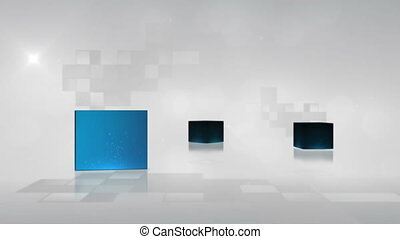 Videos of cubes - Animation of videos of cubes