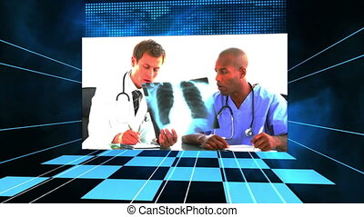 Videos of doctors analysing X-ray - Animation of doctors...