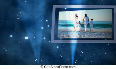 Videos of family on the beach
