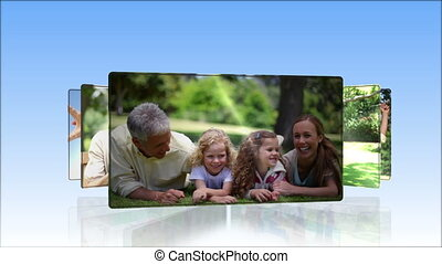 Videos of family outdoors - Animation of family outdoors