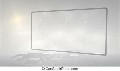 Videos of frames against grey backg