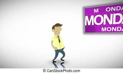 Videos of weekdays - Animation of weekdays