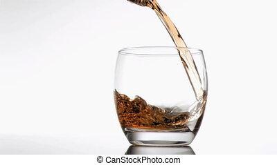 Videos of whiskey in super slow mot
