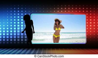 Videos of women dancing at beach