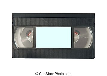 Videotape with blank label