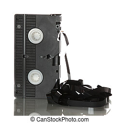 videotape with damaged ribbon