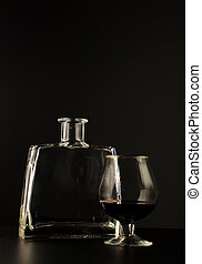 vidrio, aguardiente, botella