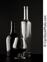 vidrio, aguardiente, botellas