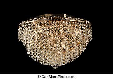 vidrio, araña de luces, contemporáneo