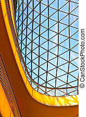 vidrio, arquitectura moderna, techo