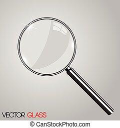 vidrio, aumentar, ilustración