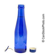 vidrio azul, botella