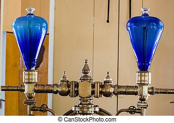 vidrio azul, cúpulas