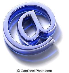 vidrio azul, signo., email