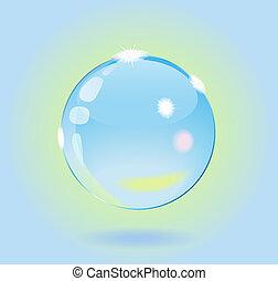 vidrio, ball.