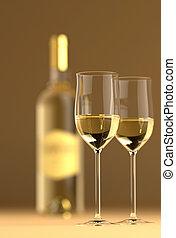 vidrio, botella, vino