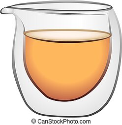 vidrio, caliente, contenedores, bebidas