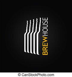 vidrio, cerveza, diseño, botella, plano de fondo