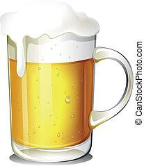 vidrio, cerveza fría