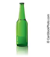 vidrio, cerveza, vector