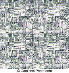 vidrio, circuitería