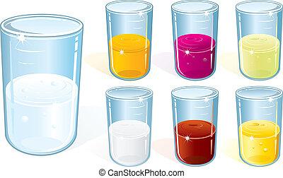 vidrio, con, bebida