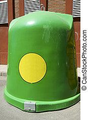 vidrio, contenedor reciclaje