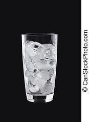 vidrio, cubos, hielo
