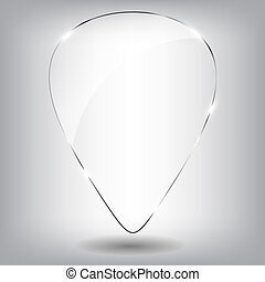 vidrio, discurso, bubble., vector, illustration.