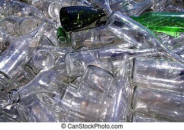 vidrio, ecológico, contenedor reciclaje, botellas
